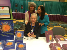 Book signing at the AATA Conference